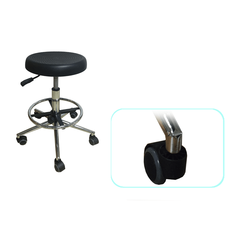 Revolving lab stools with armrest
