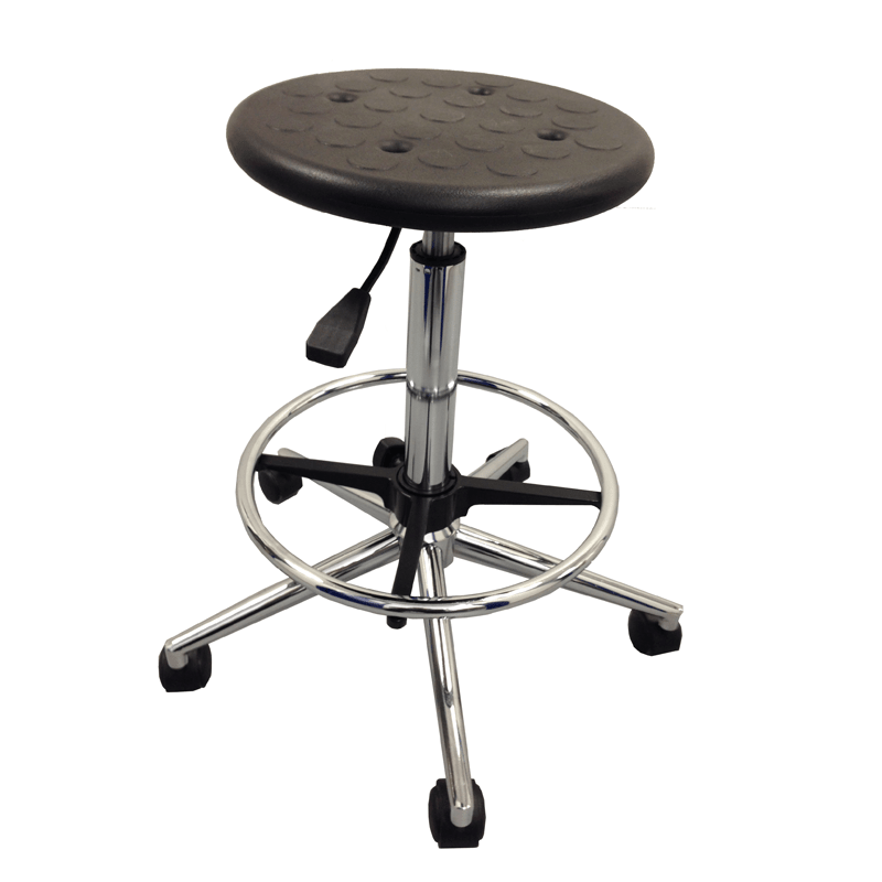 PU lab stool with height adjustment