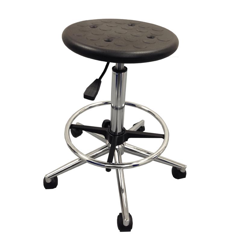 PU lab stool with height adjustment