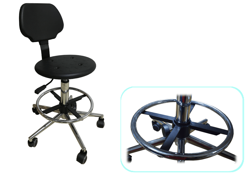Custom height lab stools armrest lab chairs