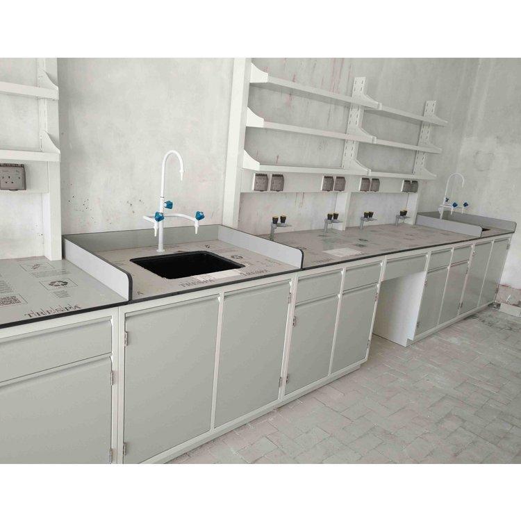 Durable Floor mounted full steel laboratory table