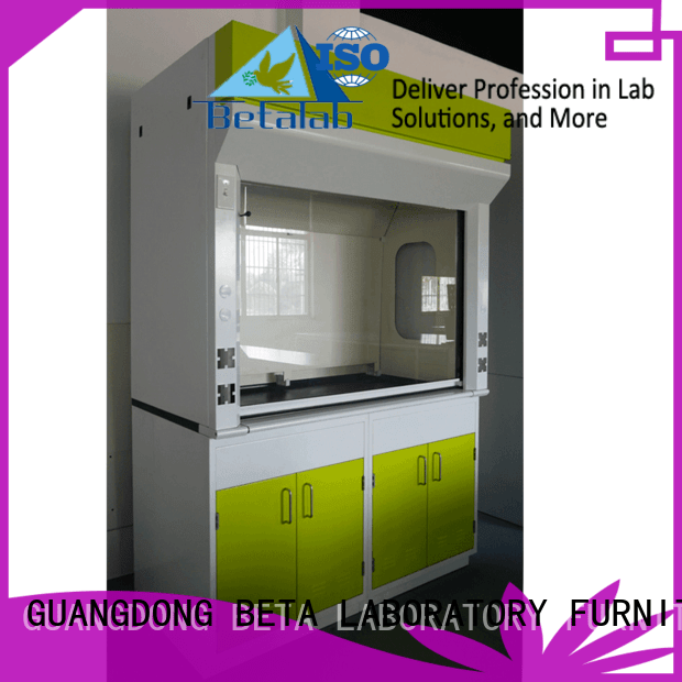 BETA hood exhaust fume hood H-Frame Stainless Steel