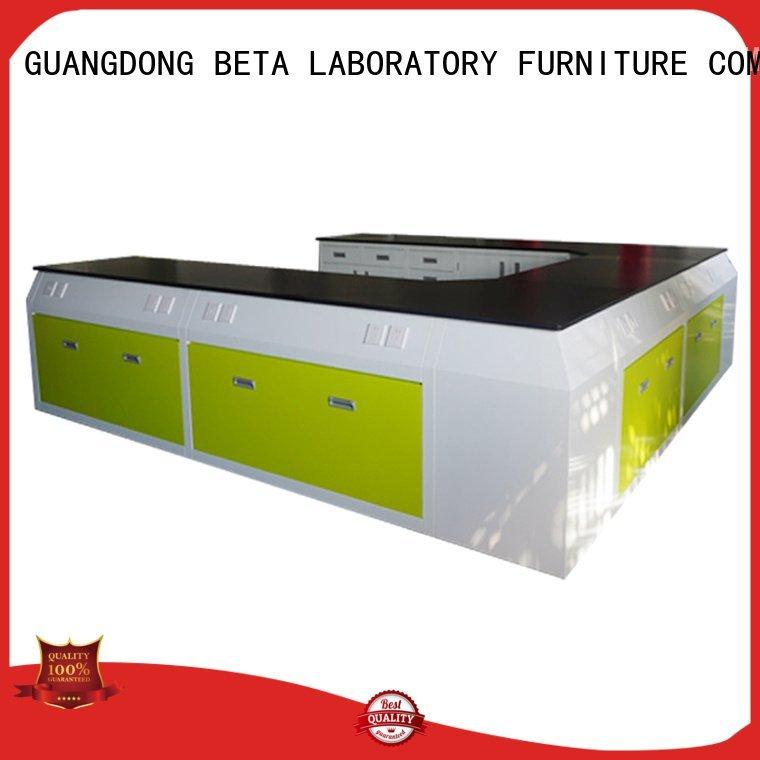 BETA laboratory furniture manufacturers steel cframe floor work