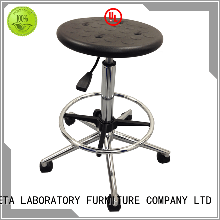 Custom revolving lab chairs adjustment BETA, betalab, lab fittings