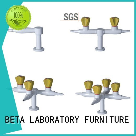 BETA Brand tripleway triplehead brass laboratory fittings