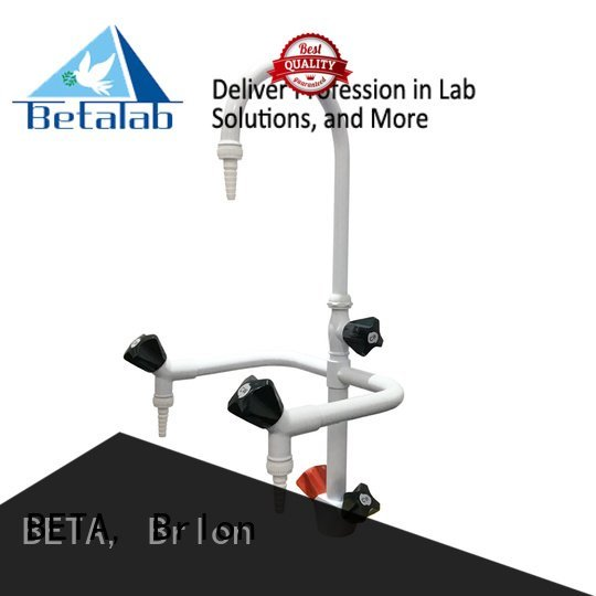BETA, Brlon tripleway lab laboratory fittings rack laboratory