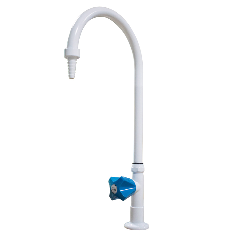 Lab used single way bench-top gooseneck faucet