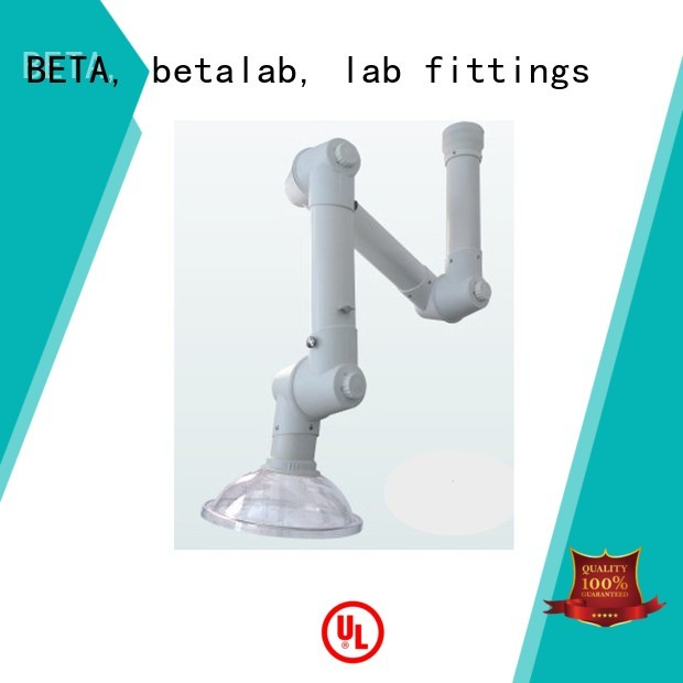 extraction alloy lab fume hood benchtop hood BETA, betalab, lab fittings company
